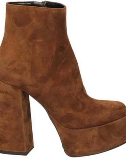 Hnedé topánky Mivida