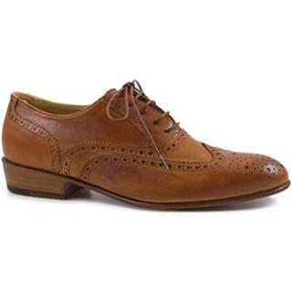 Derbie Leonardo Shoes  PINA 037 CUOIO