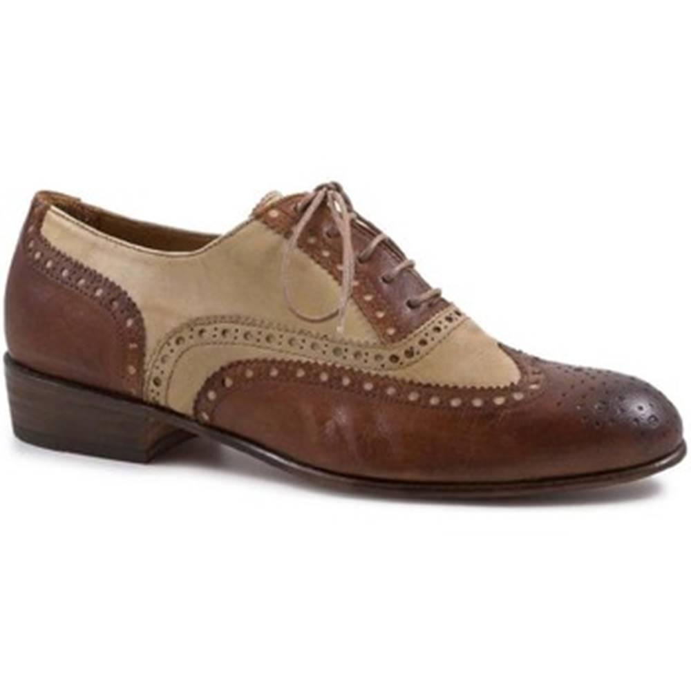 Leonardo Shoes Derbie Leonardo Shoes  PINA 037 CUOIO/INCENSO
