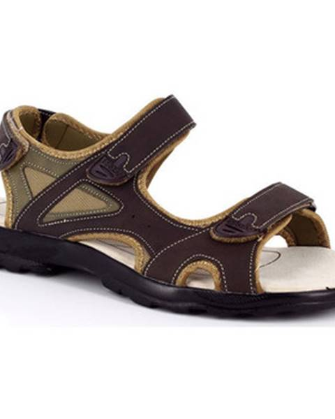 Hnedé športové sandále Kimberfeel