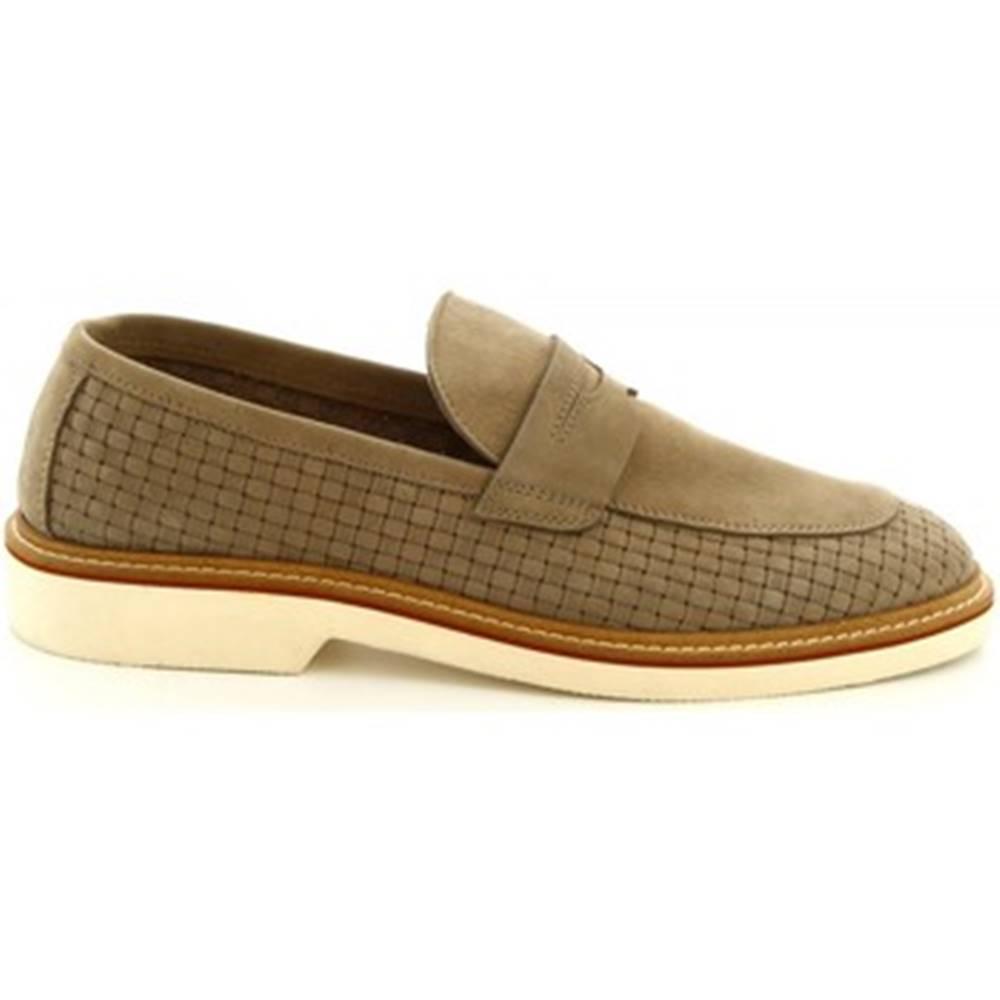 Leonardo Shoes Mokasíny Leonardo Shoes  1099_1 PE NABUK TAUPE