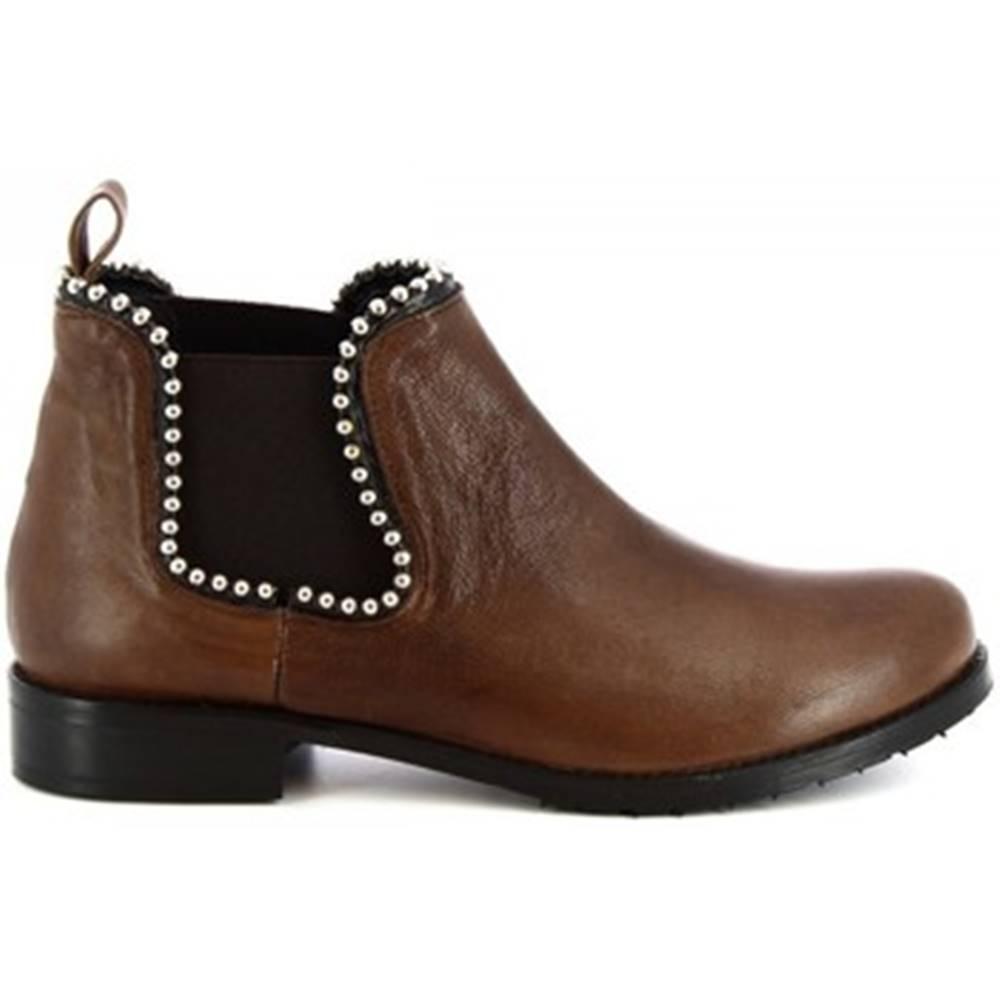 Leonardo Shoes Polokozačky Leonardo Shoes  1796 T.MORO