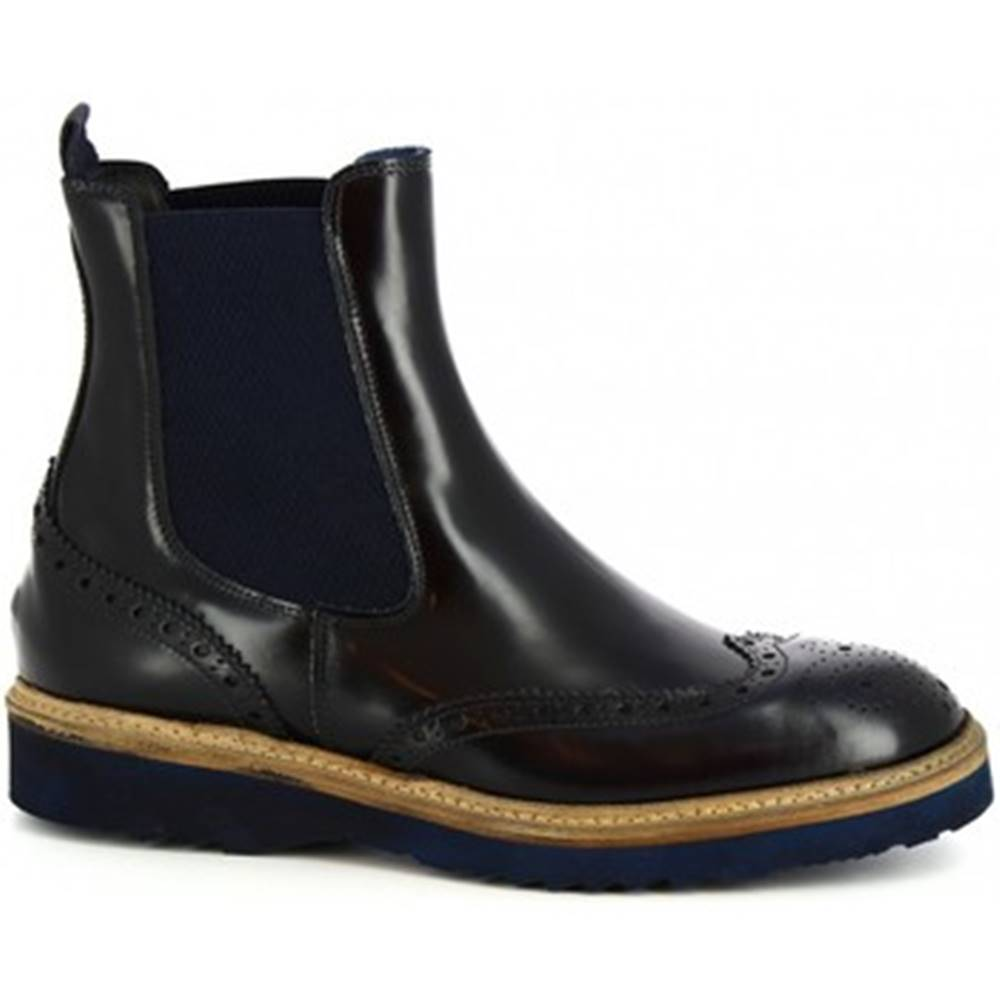 Leonardo Shoes Polokozačky Leonardo Shoes  M631-05 DALLAS BLU(391)