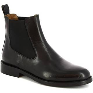Čižmičky Leonardo Shoes  D607 PE VITELLO NERO