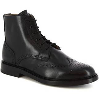 Polokozačky Leonardo Shoes  9014/19 CAPRI NERO
