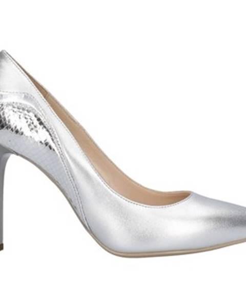 Strieborné topánky Nero Giardini