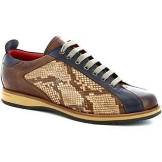 Nízke tenisky Leonardo Shoes  9215/19 COCCO AV BRANDY