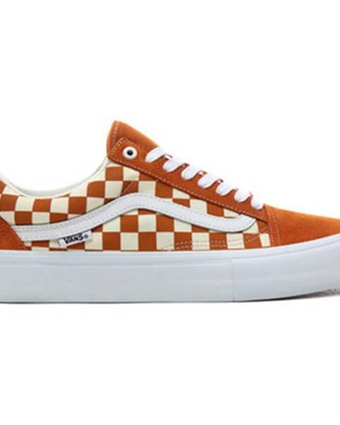 Oranžové topánky Vans