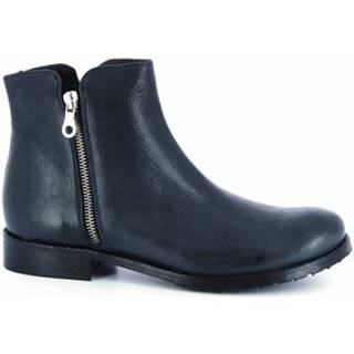 Polokozačky Leonardo Shoes  2508 ROK BLEU