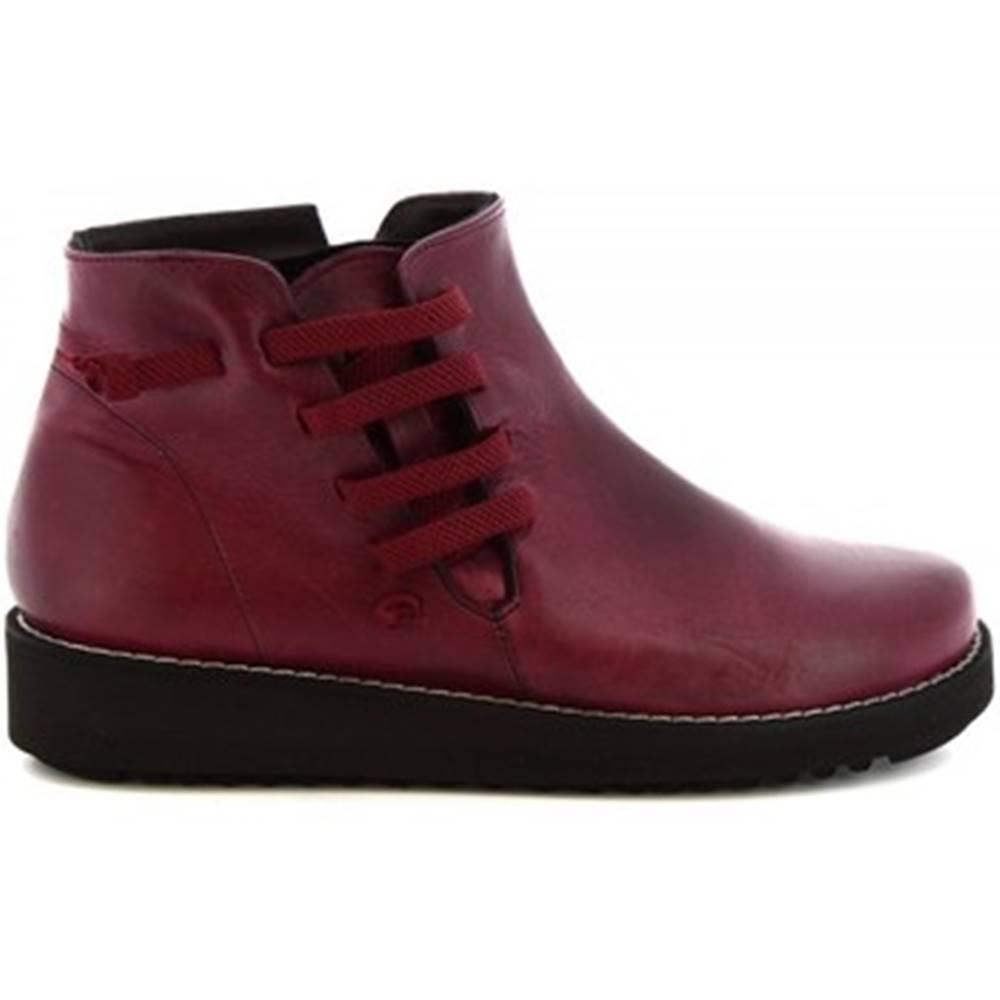 Leonardo Shoes Polokozačky Leonardo Shoes  4527 INGRASSATO BORDEAUX