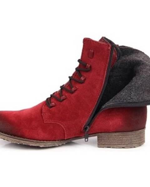 Červené topánky Rieker