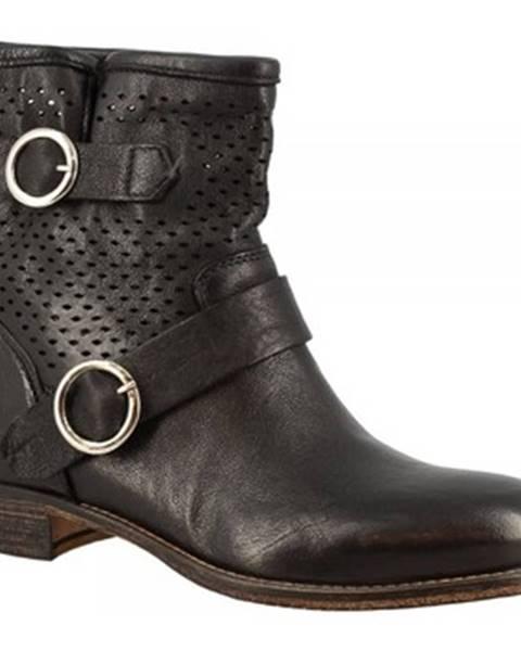 Čierne topánky Leonardo Shoes