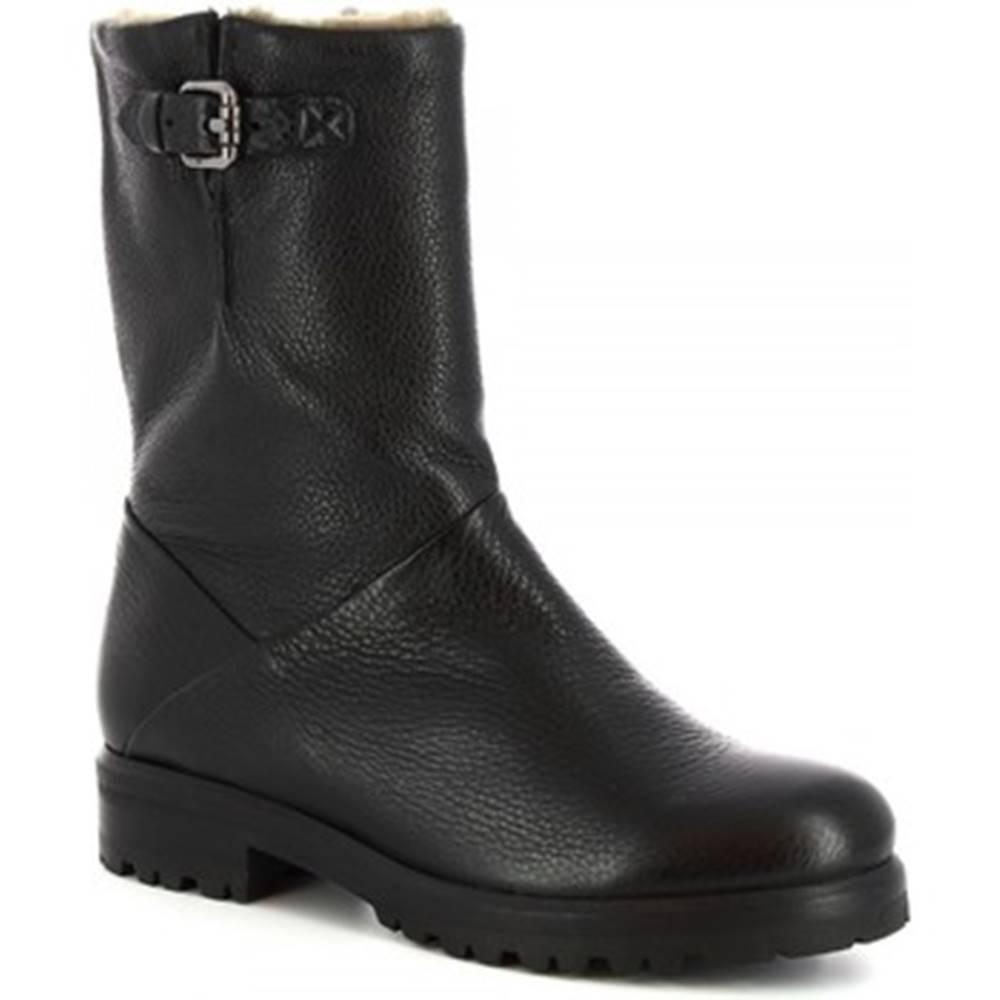 Leonardo Shoes Čižmy do mesta Leonardo Shoes  30207 PRINCE NERO