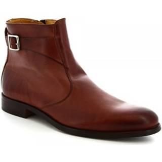 Polokozačky Leonardo Shoes  07034/FORMA 40 GOLF NUTELLA