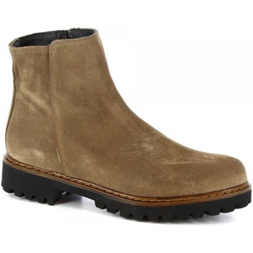 Leonardo Shoes Čižmičky Leonardo Shoes  139 CAMOSCIO TAUPE
