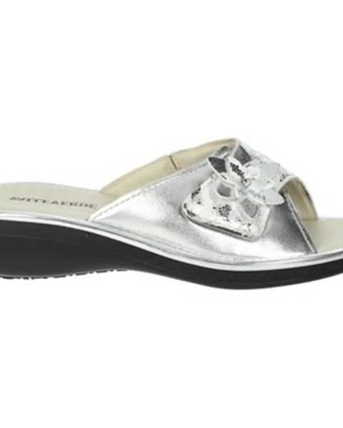 Strieborné topánky Valleverde