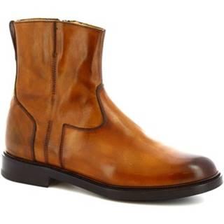 Polokozačky Leonardo Shoes  9223/19 VITELLO DELAVE SIENA