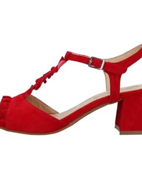 Červené topánky Mot-Cle'