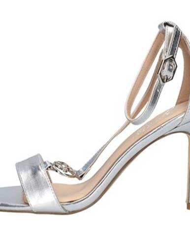 Strieborné topánky Gattinoni