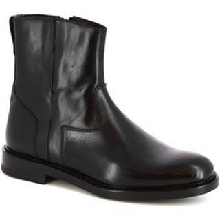 Polokozačky Leonardo Shoes  9223/19 VITELLO NERO