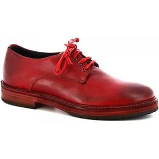 Derbie Leonardo Shoes  607 ROSSO
