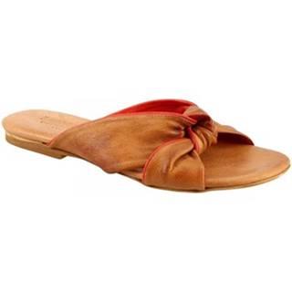 Sandále  PC139 CAPRA CUOIO/ROSSO RED