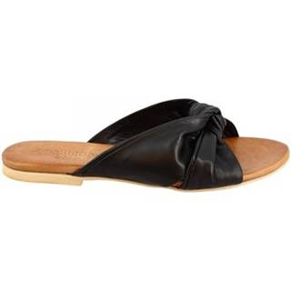 Sandále Leonardo Shoes  PC139 CAPRA NERO