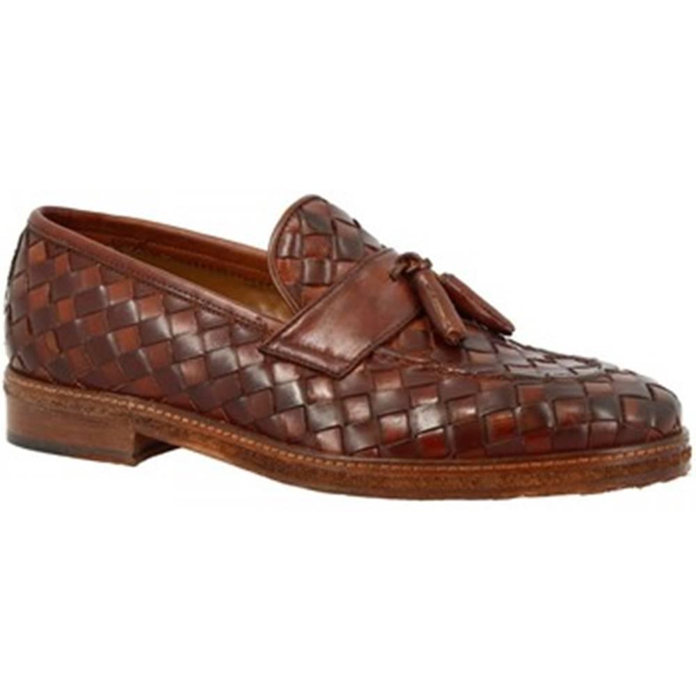Leonardo Shoes Mokasíny  1054_5 PE VITELLO MARR