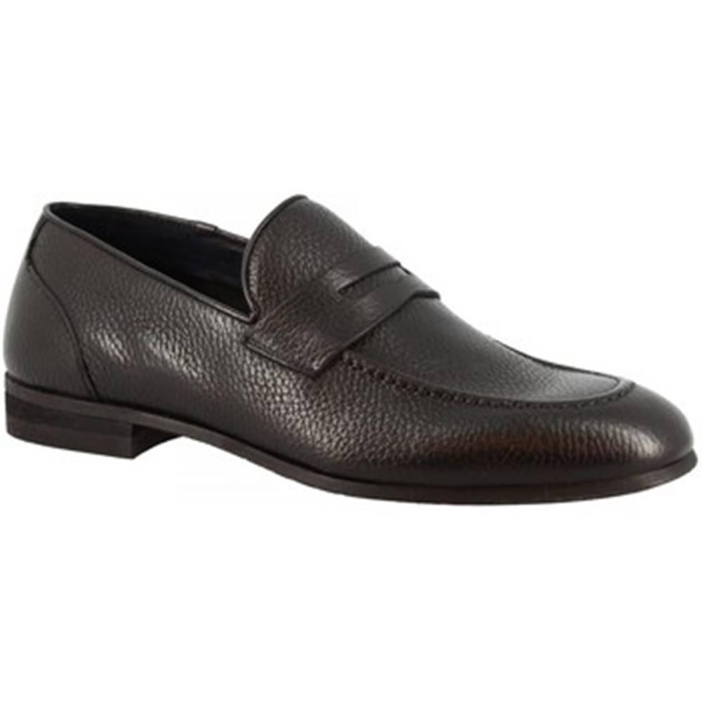 Leonardo Shoes Mokasíny  9493E20 TOM ALCE NERO
