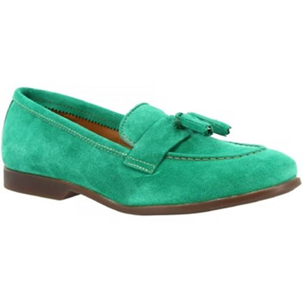 Leonardo Shoes Mokasíny Leonardo Shoes  TOR02 VELUR BOSCO