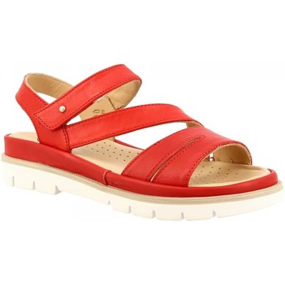 Leonardo Shoes Sandále  VI-24 ROSSO