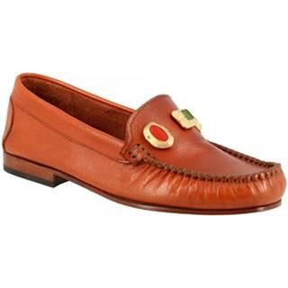 Sandále Leonardo Shoes  558 VITELLO CUOIO