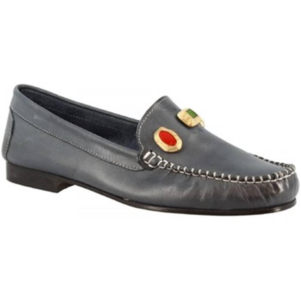 Leonardo Shoes Sandále Leonardo Shoes  558 VITELLO BLU