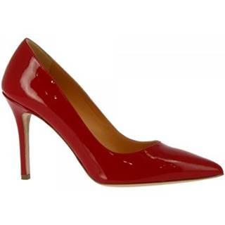 Lodičky Leonardo Shoes  E9750 VERNICE ROSSO