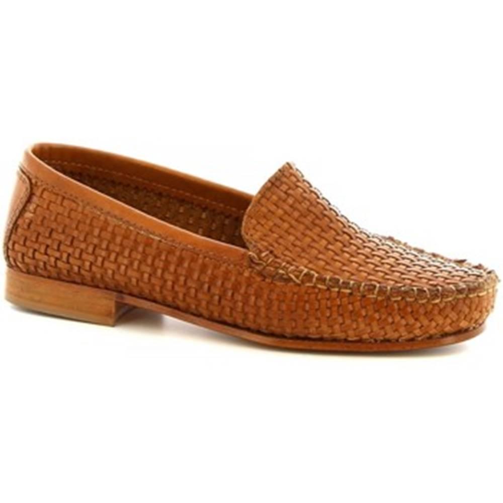 Leonardo Shoes Mokasíny Leonardo Shoes  193 INVECCHIATO SPESSORE SELLA
