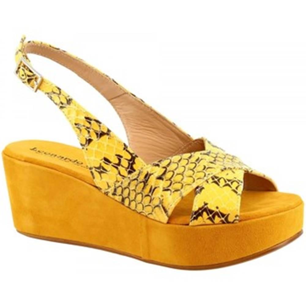 Leonardo Shoes Sandále Leonardo Shoes  3378 TONI PITONE GIALLO