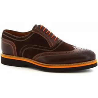 Derbie Leonardo Shoes  06650/FORMA 40 GOLF TESTA DI MORO