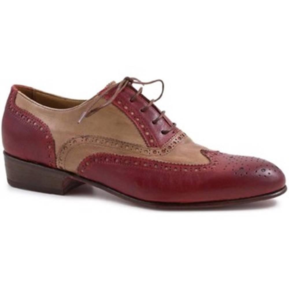 Leonardo Shoes Derbie  PINA 037 ROSSO/INCENSO