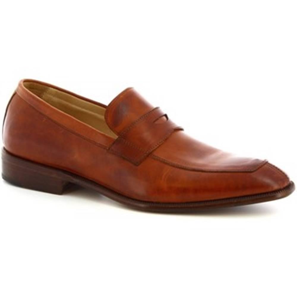 Leonardo Shoes Mokasíny Leonardo Shoes  PINA 8 VITELLO MARRONE