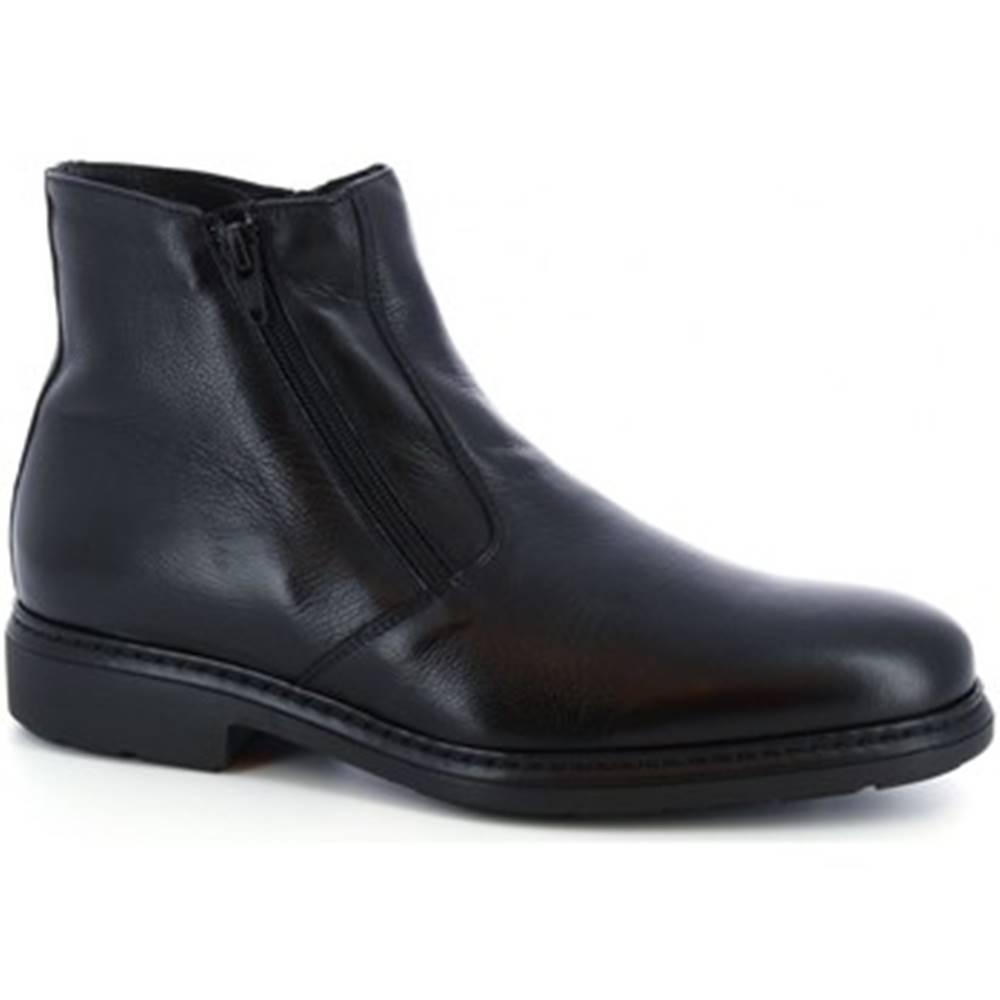 Leonardo Shoes Polokozačky  75538-I F. 755 GOMMA ILARI CUC NERO
