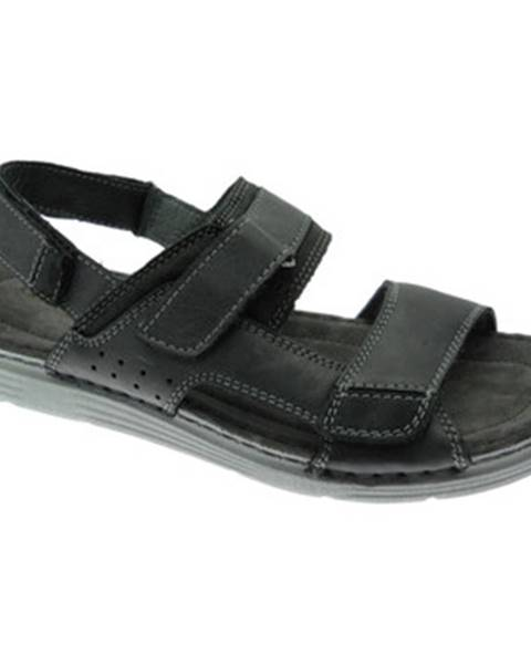 Čierne sandále Uomodue By Riposella