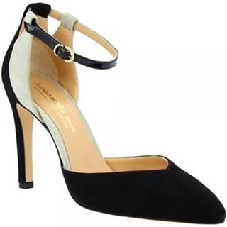 Lodičky Leonardo Shoes  E1602 CAMOSCIO NERO GRIGIO