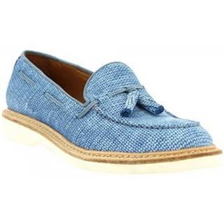 Mokasíny Leonardo Shoes  W052-24 COSTES DENIM
