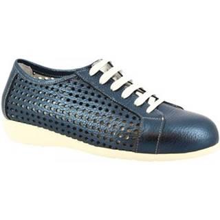 Derbie Leonardo Shoes  4723VEN PIUMA DENIM