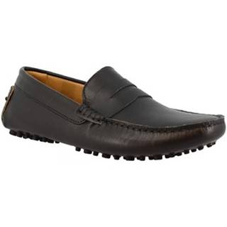 Mokasíny Leonardo Shoes  503 VITELLO NERO