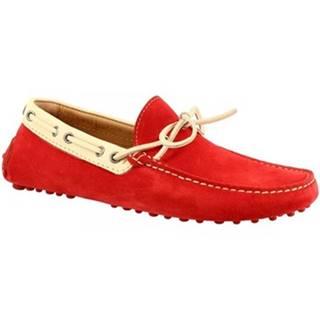 Mokasíny Leonardo Shoes  8309AF SOFTY FERRARI