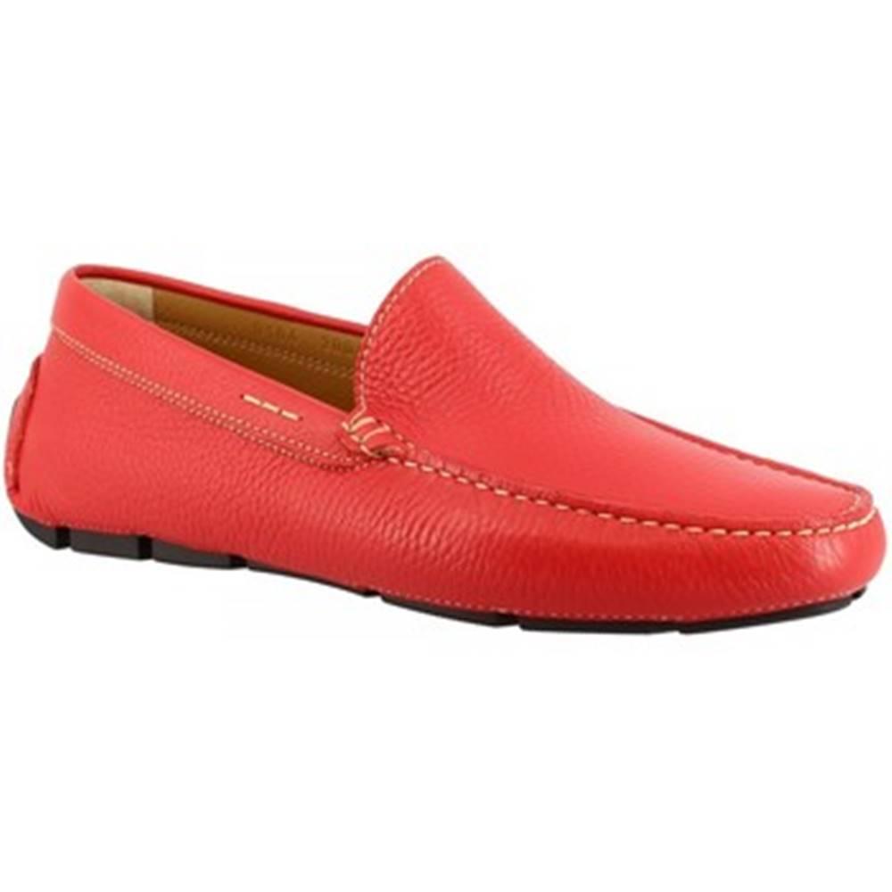 Leonardo Shoes Mokasíny Leonardo Shoes  8104AF MOUSSE ROSSO