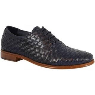 Richelieu Leonardo Shoes  W027-08INT INTRECCIATO BLU