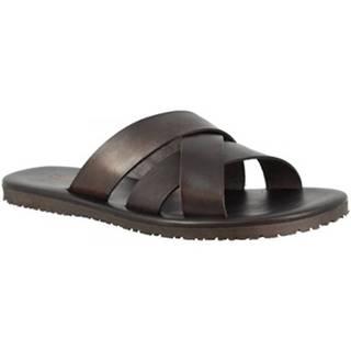 Šľapky Leonardo Shoes  M6377 NERO