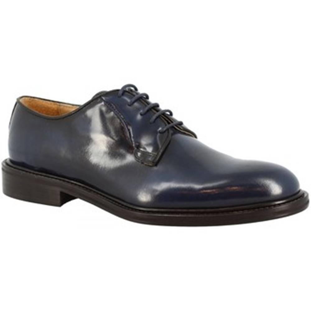 Leonardo Shoes Derbie Leonardo Shoes  850-17 PE ABBRASIVA BLUE
